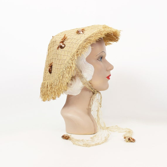 vintage 50s hat / 1950s ALFRED SHAHEEN hat / rare