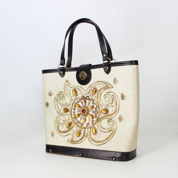 vintage 1960s bag / 1960s jeweled bag / Enid Coll… - image 2