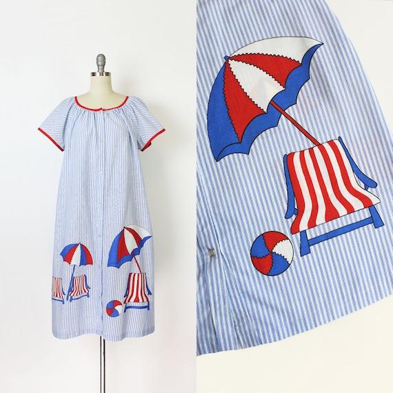 vintage 60s dress / 1960s novelty house dress / st