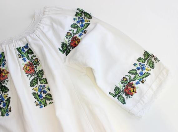 vintage 1940s folk dress / 1940s beaded embroider… - image 8