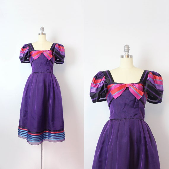 SALE / vintage 80s party dress / 1980s MORTON MYLE