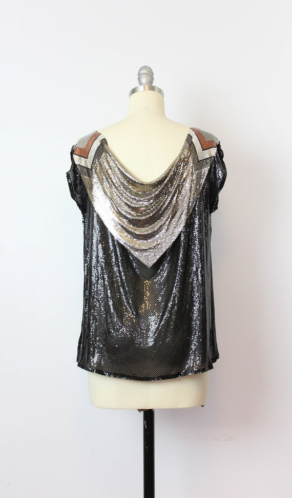 vintage metal mesh shirt / 1980s WHITING and DAVI… - image 4