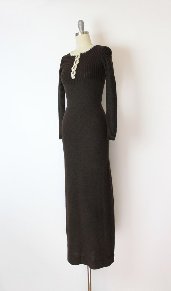 vintage 70s dress / 1970s knit maxi dress / 70s f… - image 3