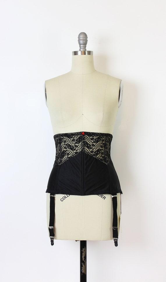 vintage 80s corset / 1980s underbust corset / dea… - image 2