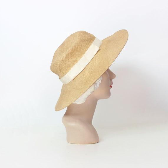 vintage 80s straw hat / 1980s BURBERRY hat / vint… - image 2