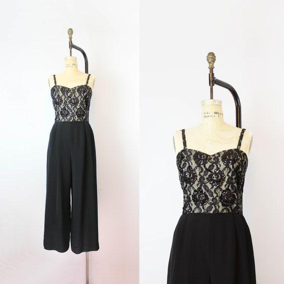 6310fac1f6 Vintage 80s jumpsuit   1980s NOLAN MILLER jumpsuit   black