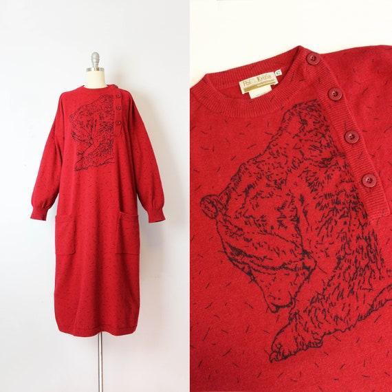 vintage 80s sweater dress / 1980s POI by KRIZIA sw