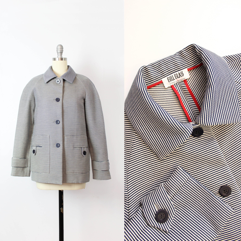 ca95c164346 Vintage 70s jacket / 1970s BILL BLASS jacket / navy white | Etsy