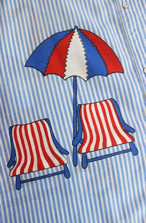 vintage 60s dress / 1960s novelty house dress / s… - image 8