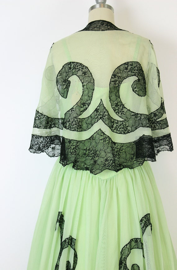 vintage 40s dress set / 1940s green dress shawl /… - image 7