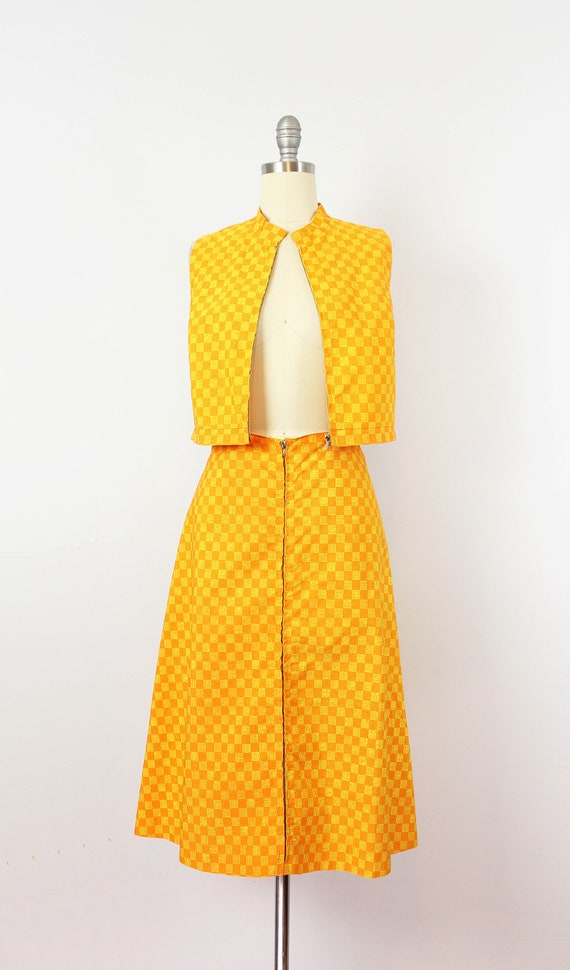 vintage 1960s MARIMEKKO vest skirt set / 1960s mo… - image 7