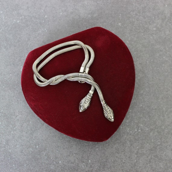 vintage 30s snake bracelet / 1930s snake jewelry /