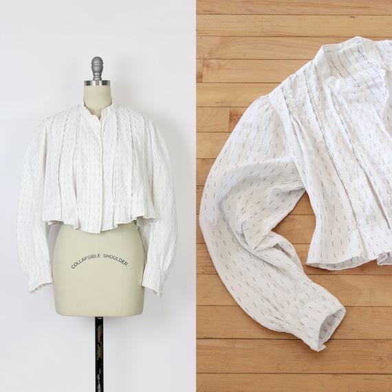 antique cotton blouse / Edwardian cotton blouse /… - image 1