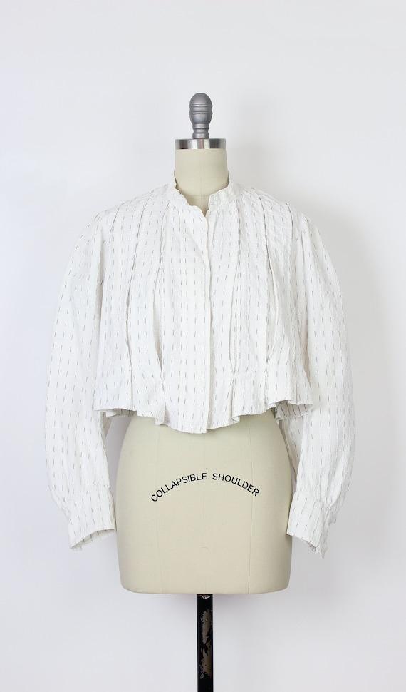 antique cotton blouse / Edwardian cotton blouse /… - image 2