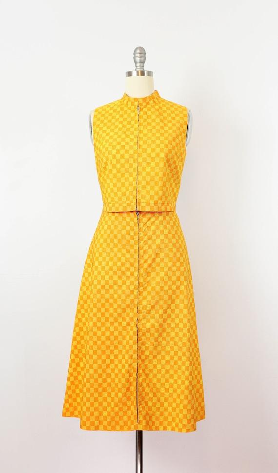 vintage 1960s MARIMEKKO vest skirt set / 1960s mo… - image 2