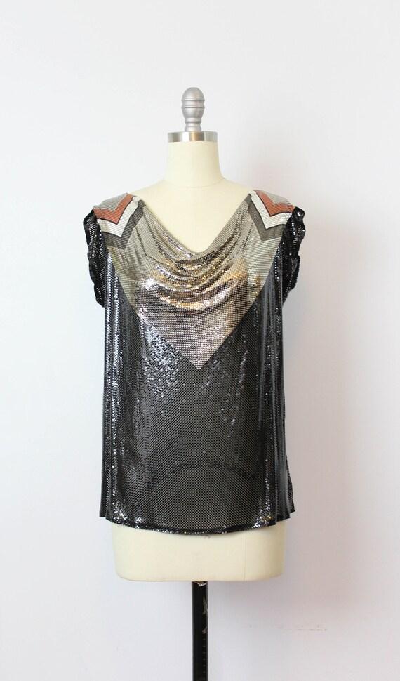 vintage metal mesh shirt / 1980s WHITING and DAVI… - image 2