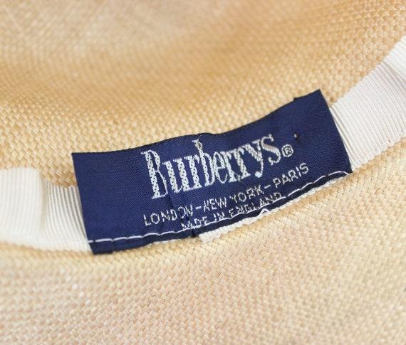 vintage 80s straw hat / 1980s BURBERRY hat / vint… - image 7