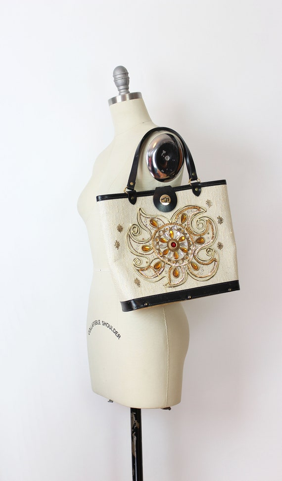 vintage 1960s bag / 1960s jeweled bag / Enid Coll… - image 7