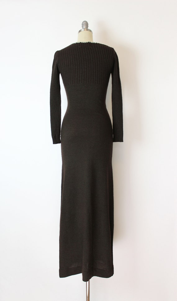 vintage 70s dress / 1970s knit maxi dress / 70s f… - image 4