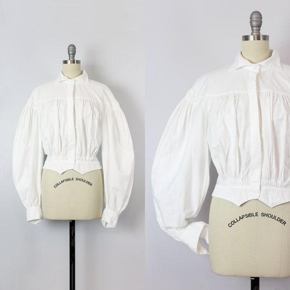 vintage NORMA KAMALI blouse / 1980s does Edwardian