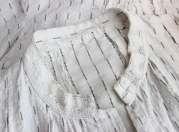 antique cotton blouse / Edwardian cotton blouse /… - image 7