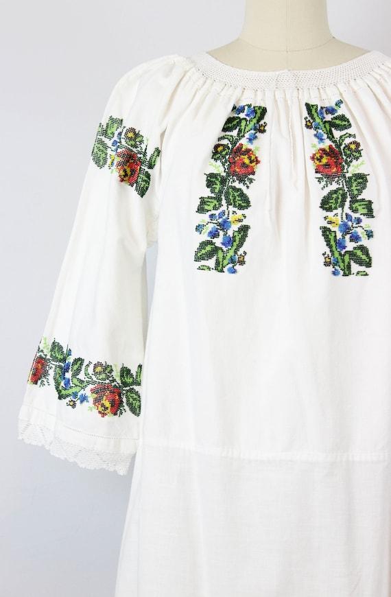 vintage 1940s folk dress / 1940s beaded embroider… - image 3