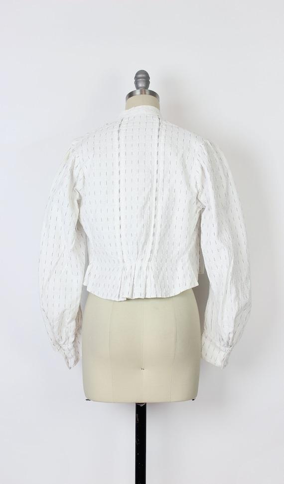 antique cotton blouse / Edwardian cotton blouse /… - image 4