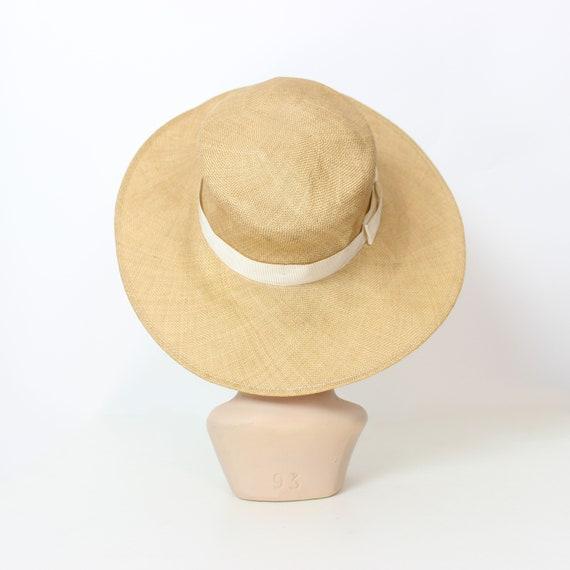 vintage 80s straw hat / 1980s BURBERRY hat / vint… - image 5