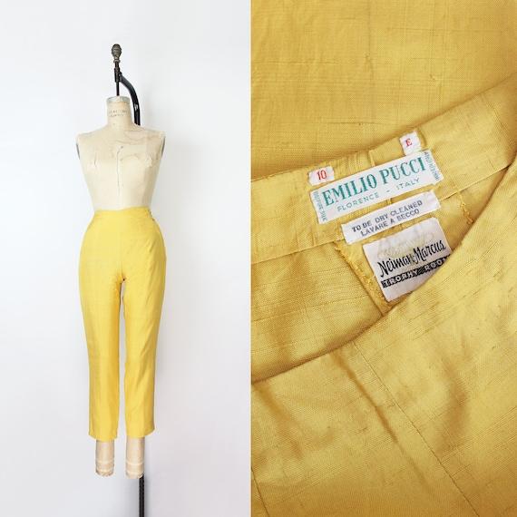 Vintage 1960s Capri Pants Navy Cotton Blend NWT Metal Side Zipper Rockabilly XS 24 Waist