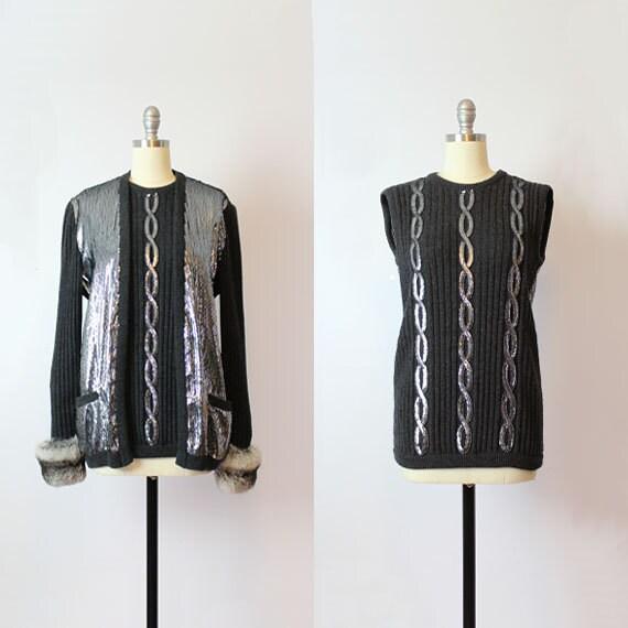 vintage VALENTINO sweater set / 1980s designer swe
