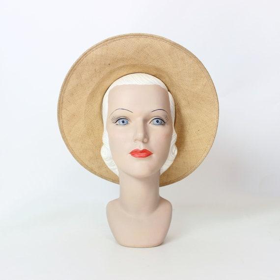 vintage 80s straw hat / 1980s BURBERRY hat / vint… - image 3