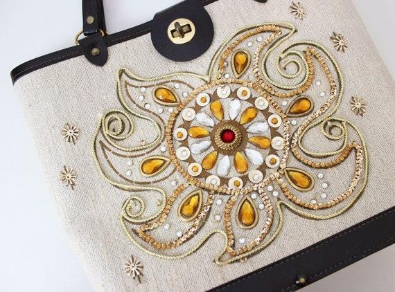 vintage 1960s bag / 1960s jeweled bag / Enid Coll… - image 6