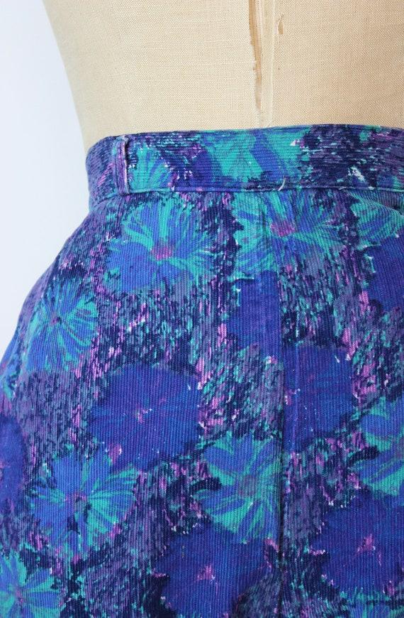 vintage 50s pants / 1950s floral corduroy pants /… - image 9
