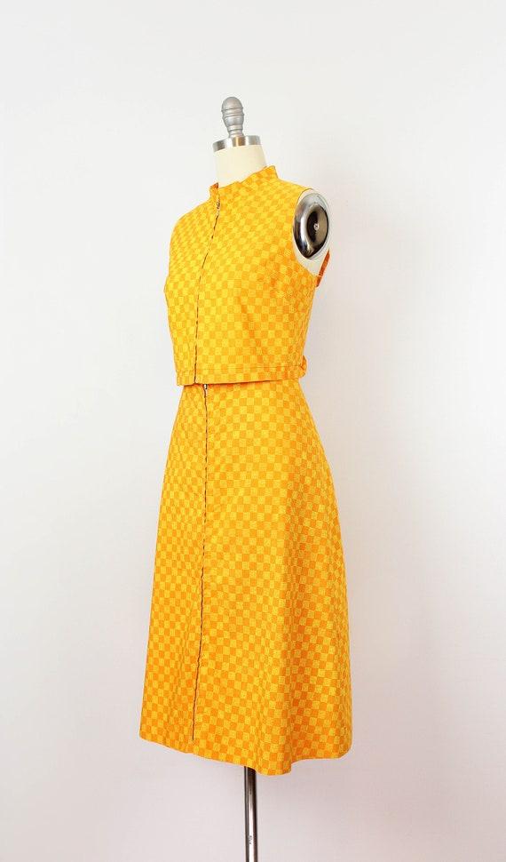 vintage 1960s MARIMEKKO vest skirt set / 1960s mo… - image 3