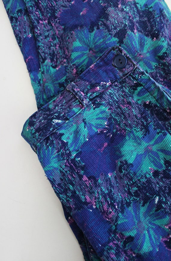 vintage 50s pants / 1950s floral corduroy pants /… - image 7