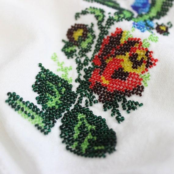 vintage 1940s folk dress / 1940s beaded embroider… - image 9