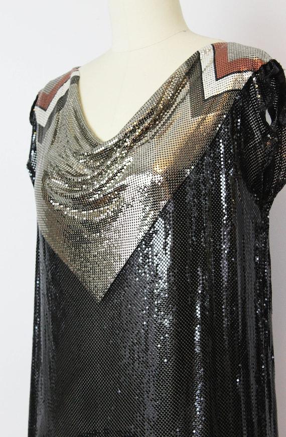 vintage metal mesh shirt / 1980s WHITING and DAVI… - image 6