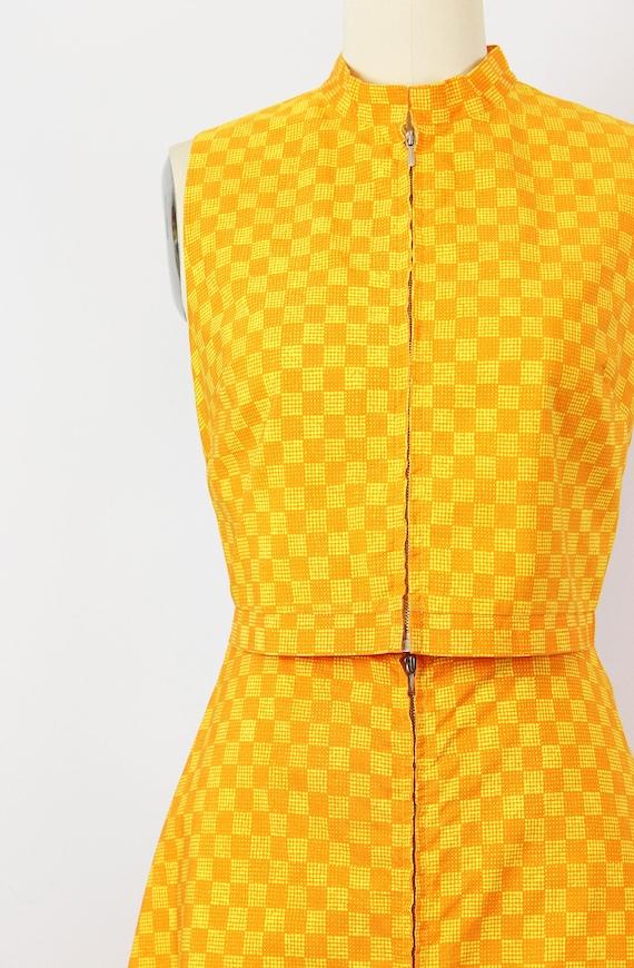 vintage 1960s MARIMEKKO vest skirt set / 1960s mo… - image 5