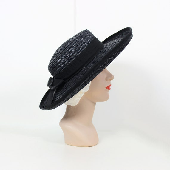 vintage sun hat / 1980s straw summer hat / wide br