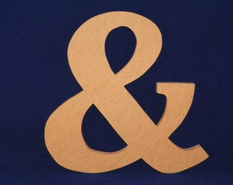 """8"""" Wooden Ampersand...Great as Props for Wedding and Engagement Pictures, Friendship, Wall Hanging & More!"""