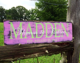 Personalized family sign. Family name sign.
