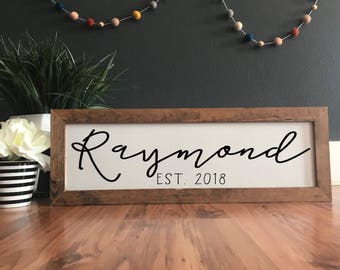Personalized family name sign. Family plaque. Family sign. Custom name sign. Custom wood sign. Custom Family sign. Home decor. Established