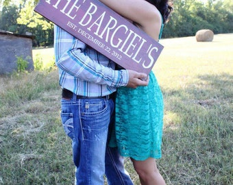 Wedding Established Sign. Personalized Family plaque.