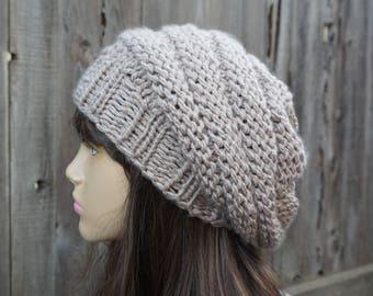 19e67cd9155 Beige winter hat