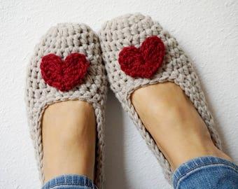 ae1bcc6ee6e2b Crochet slippers | Etsy