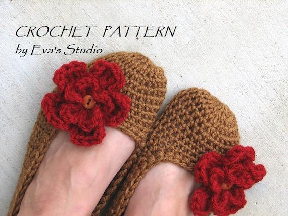 Crochet Pattern Adult Slippers Easy Great For Beginners