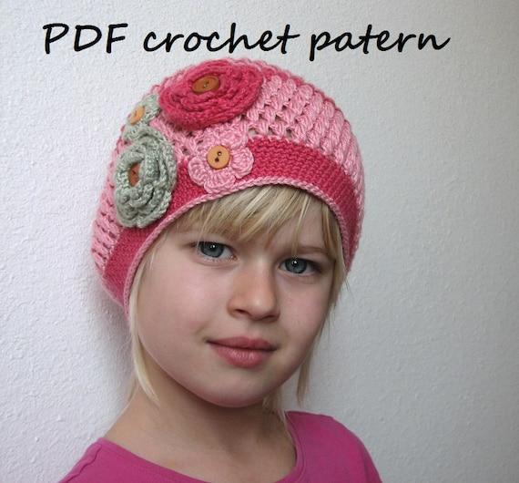 5bd2f1d0508 Crochet Pattern Slouchy Spring Hat Crochet Pattern PDF
