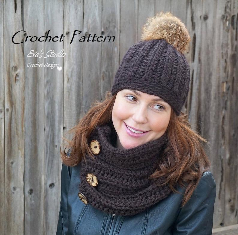 ee6a47855c7 CROCHET PATTERN Crochet Women s Beanie and Neck Warmer