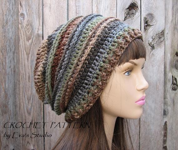 Crochet Hat Slouchy Hat Crochet Pattern Pdfeasy Pattern Etsy