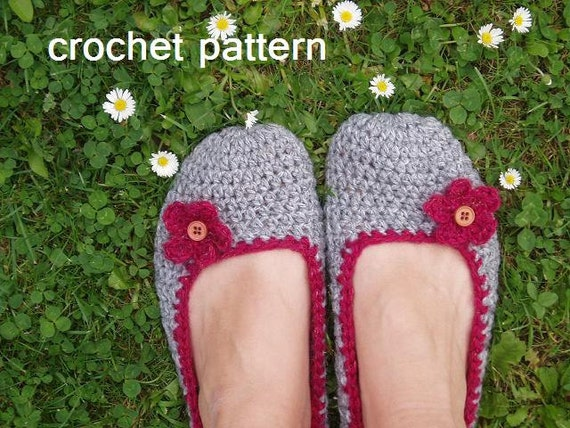 Adult Slippers Crochet Pattern Pdfeasy Great For Beginners Etsy